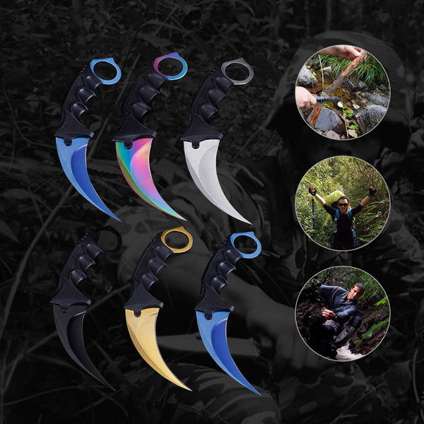 Karambit CSGO Cosplay Tactical Outdoor Camping Knives | Hike Tool