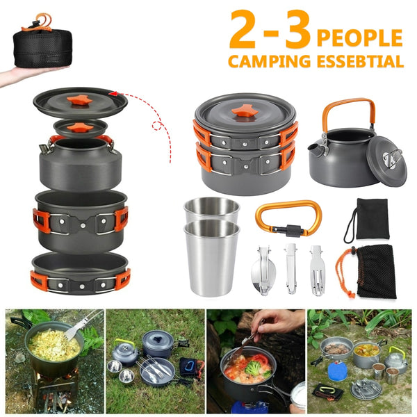 Camping Non-Stick Cookware Kit