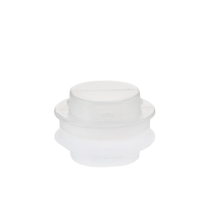 EZBio® GL45 Open Cap & Closed Adapter, Natural PP for Plastic Bottles