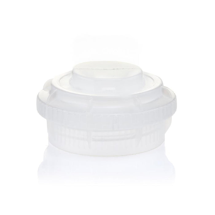 EZBio® GL45 Open Cap & Closed Adapter, Natural PP for Glass Bottles