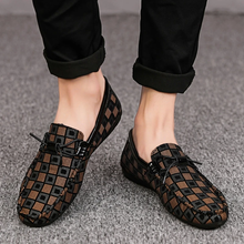 Load image into Gallery viewer, FreshTrend™ - Kasut Lelaki Lucky Plaid Loafers