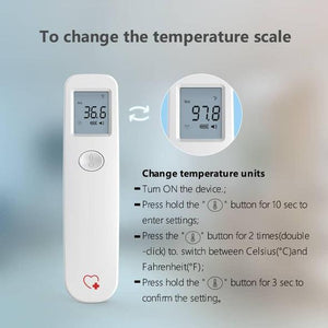 URHEALTH™ LX201 Infrared Thermometer for Baby and Adults