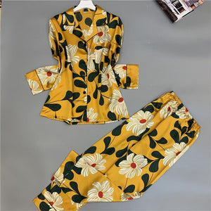 Summer Satin Silk Pajamas