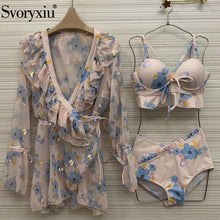 Load image into Gallery viewer, Svoryxiu High Waist Bikini Three Piece Swimsuit