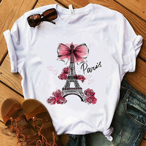 Vintage Vogue Paris Printed Summer TShirt