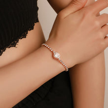 Load image into Gallery viewer, Luxury Rose Gold Heart Band Charm Bracelet