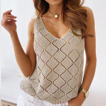 Load image into Gallery viewer, Sexy V-Neck Crochet Casual Knit Shirt