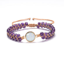 Load image into Gallery viewer, Stone Wrap Bracelet Opal String Braided Yoga Bangle Bohemian