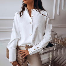 Load image into Gallery viewer, Autumn Elegant White Blouse