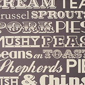 ENGLISH DINNER WALLPAPER GREY