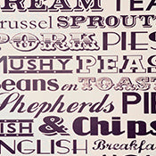 ENGLISH DINNER WALLPAPER DEEP PURPLE