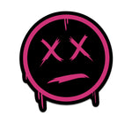 DRIP FACE STICKER - PINK