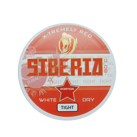 Siberia -80 Degree White Dry Tight Portion - MrSnuff