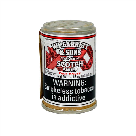 W.E Garret Scotch 1.15 oz - MrSnuff
