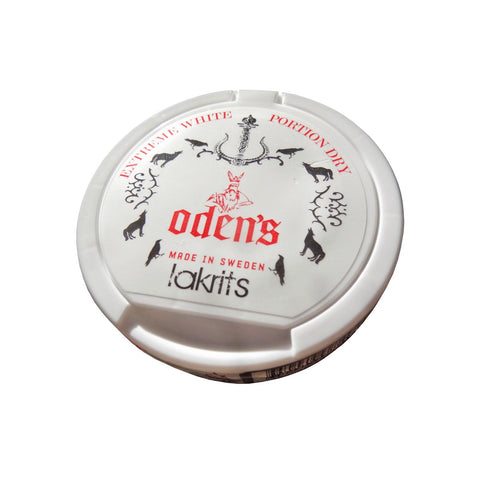 Odens Lakrits Extreme White Dry Portion