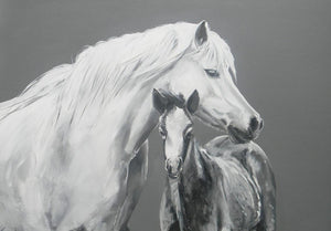 "Large Horse Greetings Card ""Protection"""