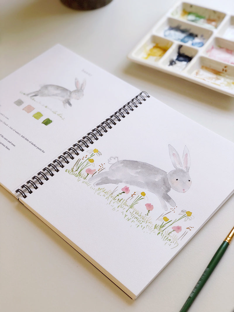 Watercolor Workbook: Animals