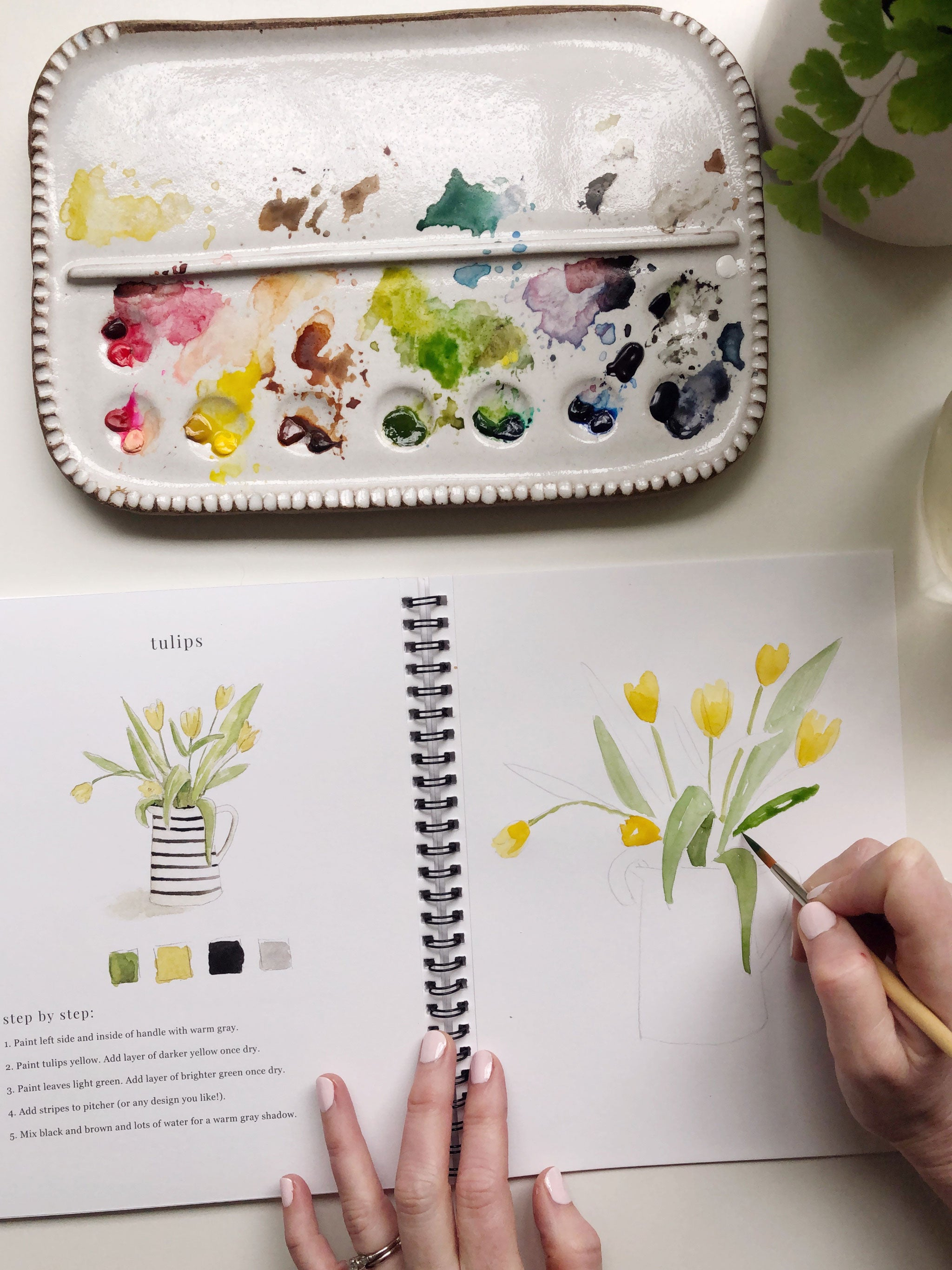 Watercolor Workbook: Flowers