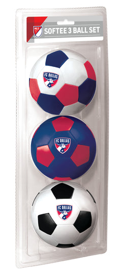 FC Dallas 3 Pack Softee Ball Set
