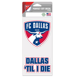 FC Dallas Perfect Cut Decal - 2 PK