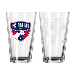 FC Dallas Satin Etch Pint Glass