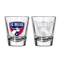 FC Dallas Satin Etch Shot Glass