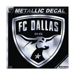 FC Dallas Metallic Window Decal