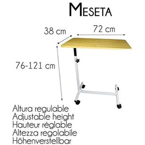 Mesa Auxiliar Mobiclinic Regulable Madera (Reacondicionado B)