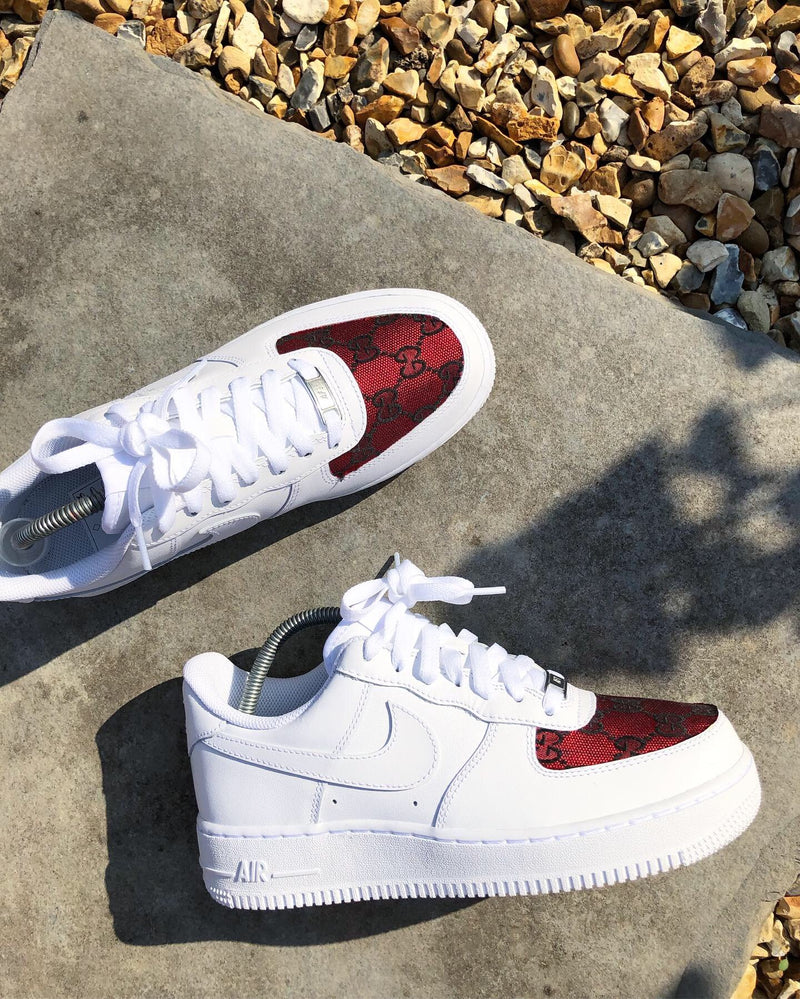 Red Toe Box GG Nike Air Force 1