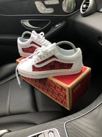 Old Skool Vans • White | Red • GG