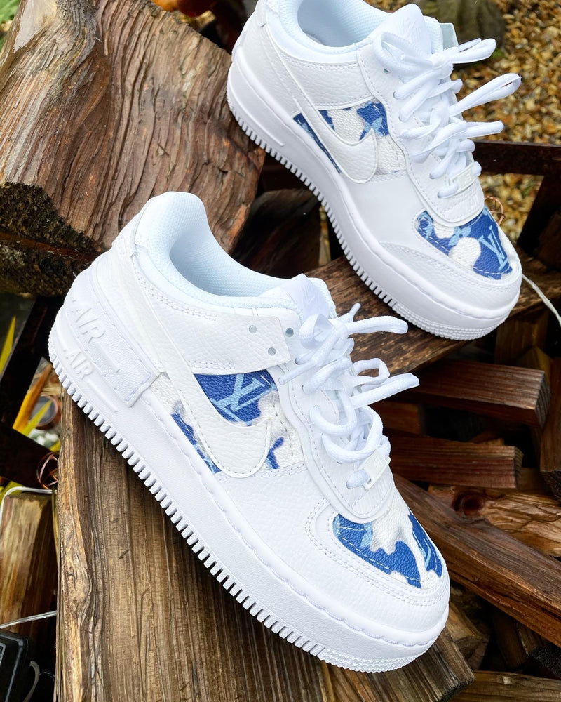Nike Air Force 1 Shadow • White | Cloud Monogram