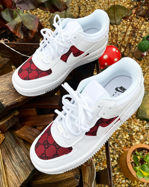 Nike Air Force 1 Shadow • White | Red GG