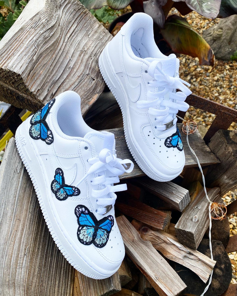 Nike Air Force 1 - White | Baby Blue Butterfly
