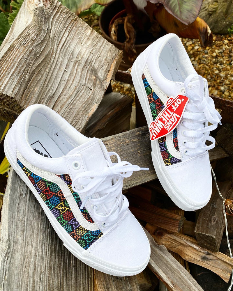 Old Skool Vans • White | Multi colour • GG