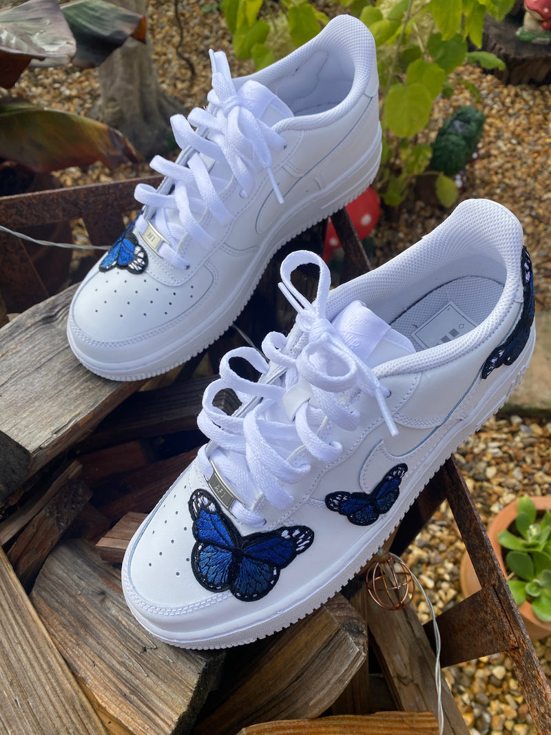 Nike Air Force 1 - White | Royal Blue Butterfly
