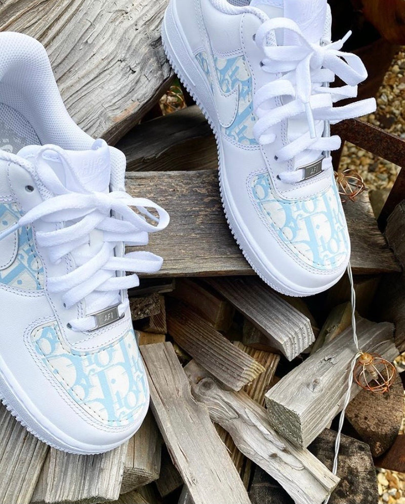 Nike Air Force 1 - White | Baby blue • CD