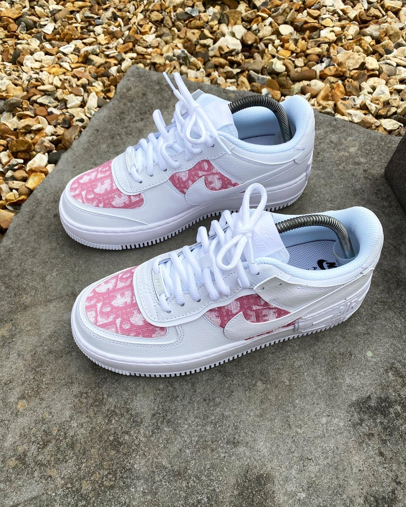 Pink/White CD Air Force 1 Shadow
