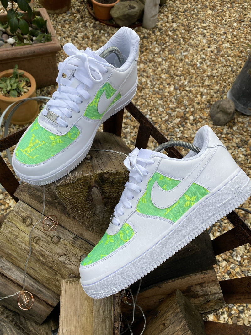 Blue Yellow Louis Vuitton Nike Air Force 1 Footwear By Rysnc If you are looking for a new pair of nike shoes then our air force 1 custom sneakers are perfect for you! blue yellow louis vuitton nike air force 1