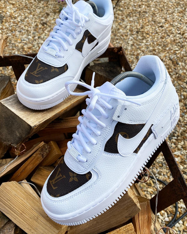 Brown Monogram Air Force 1 Shadow
