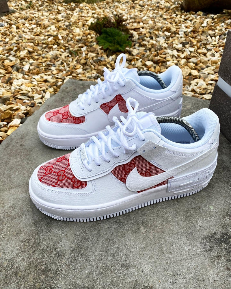 Red GG Air Force 1 Shadow