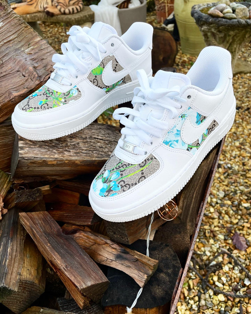 Nike Air Force 1 - White | Blossom Blue Bloom • GG