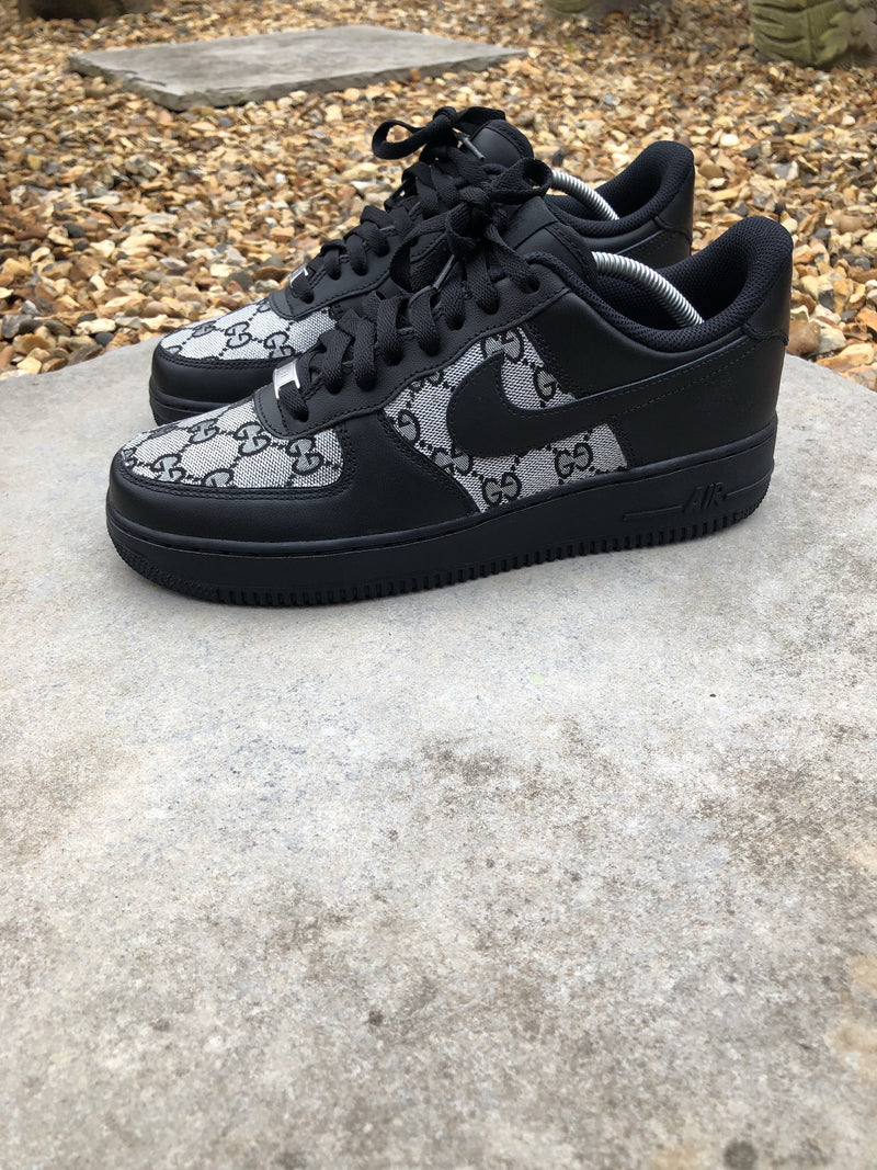 Black - Grey Gucci Nike Air Force 1