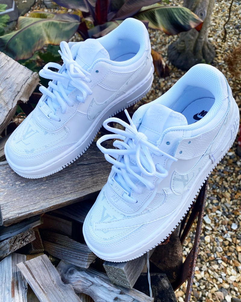 Nike Air Force 1 Shadow • White | Cocaine Monogram II