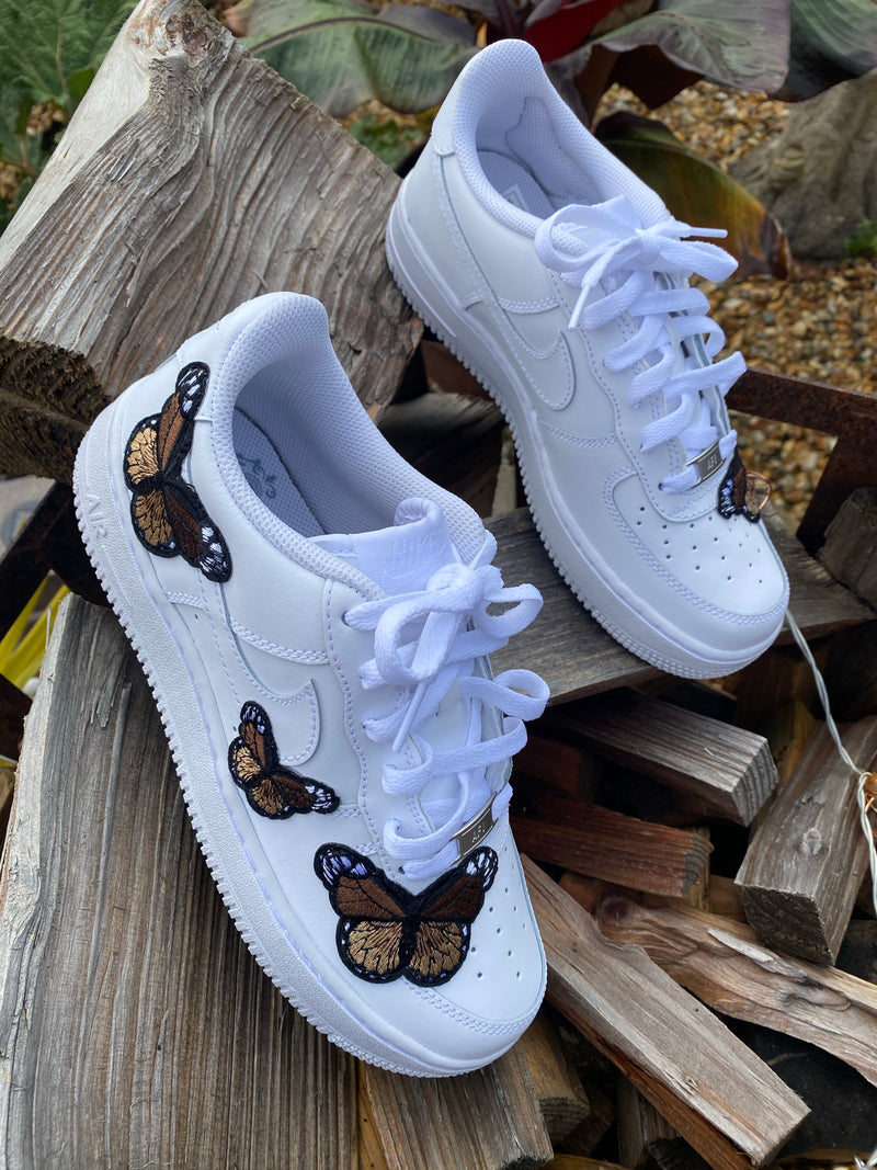 Nike Air Force 1 - White | Brown Butterfly
