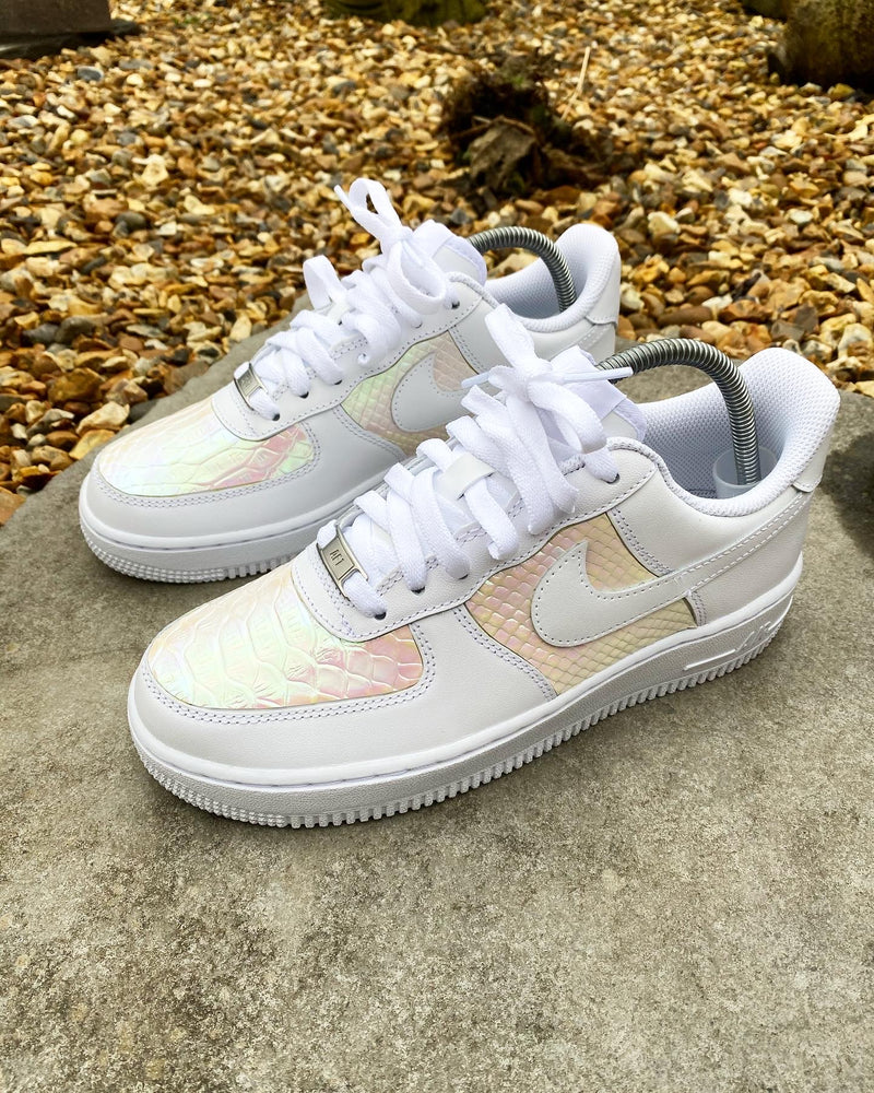 Nike Air Force 1 - White | Fluorescent • Snake Skin