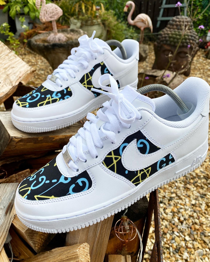 Nike Air Force 1 - White | Blue • Yellow Gucci - footwearstorerysnc