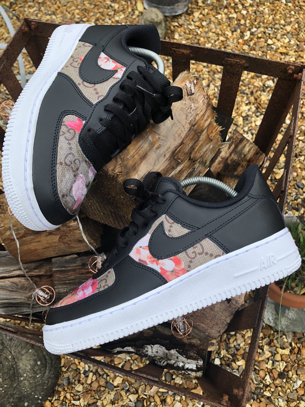 Black/White Floral GG Nike Air Force 1