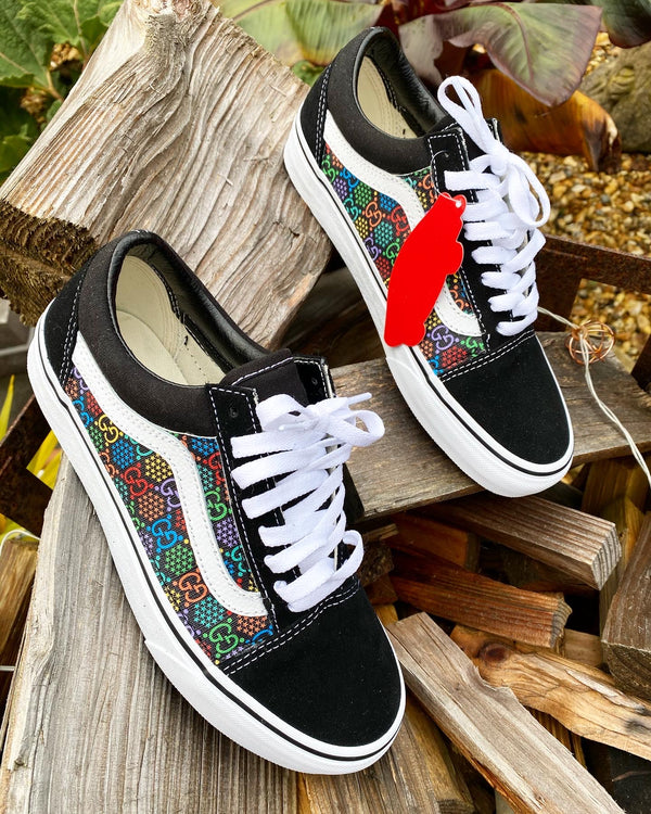 Old Skool Vans • Black | Multi colour • GG