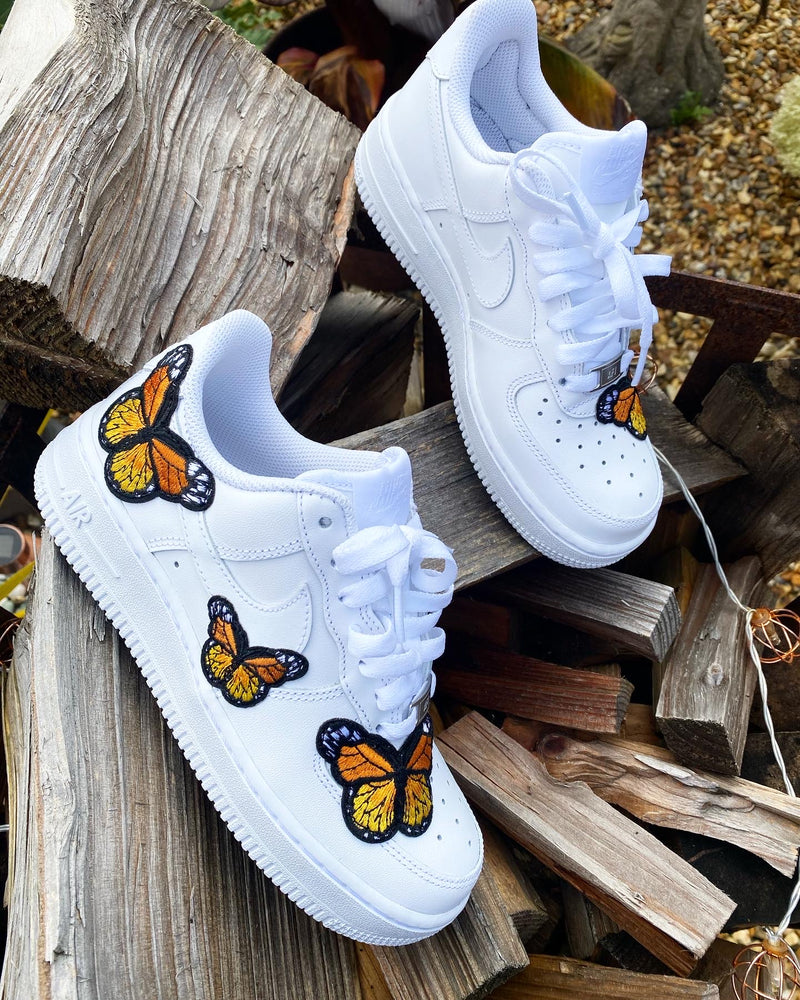 Nike Air Force 1 - White | Orange Butterfly
