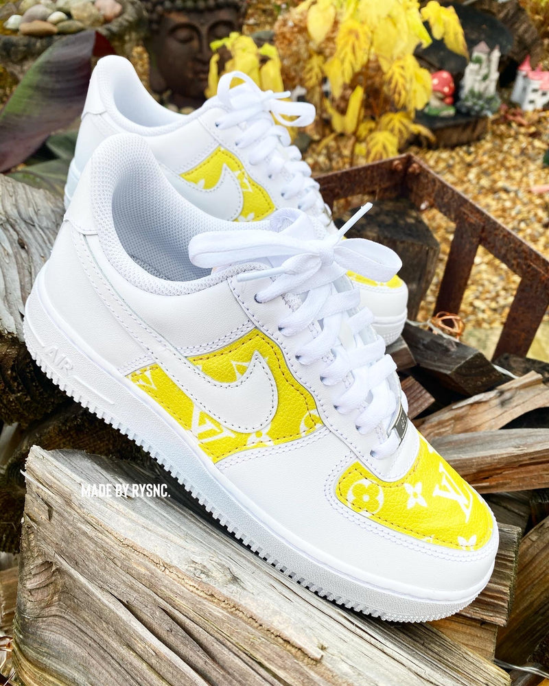 Nike Air Force 1 - White | Yellow Monogram